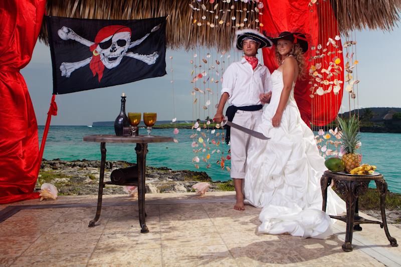 Свадьба в пиратском стиле или пиратская свадьба (сценарии, фото)