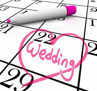 Благоприятные дни для свадьбы в 2012 году