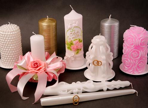 Оформить свадебную свечу своими руками