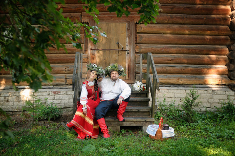Свадьба в русском народном стиле